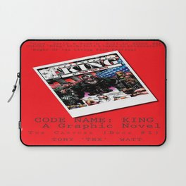 """Code Name: King""  - ALTERNATE Comic Book Promo Poster  Laptop Sleeve"