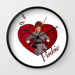 I Love Pinkie Wall Clock