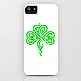 Pretty Celtic Knot Style Shamrock Irish Pride iPhone Case