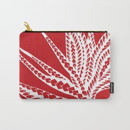 Red Polynesian Geometric Floral Chic Tribal Tattoo Carry-All Pouch