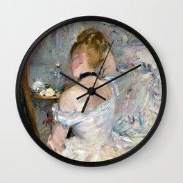 Berthe Morisot - Woman at Her Toilette - Digital Remastered Edition Wall Clock