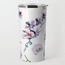 Lavender Blossom Floral Pattern Travel Mug