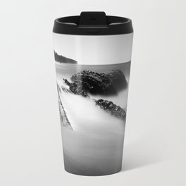 Uncovered Bowling Ball Beach Mendocino coast Travel Mug