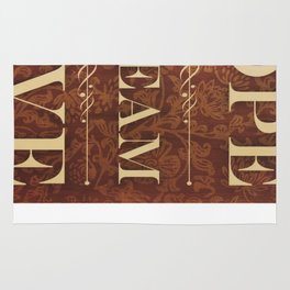 Inspirational Typography Art, Dream, Hope, Live Rug