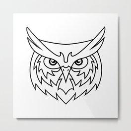 Wisdom - B&W Metal Print
