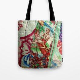 Vintage Hawaiian Quilt Scrap Tote Bag