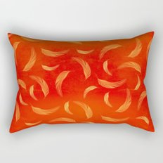 Orange feathers Rectangular Pillow