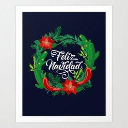 Feliz Navidad Art Print