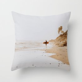 lets surf xxi Throw Pillow