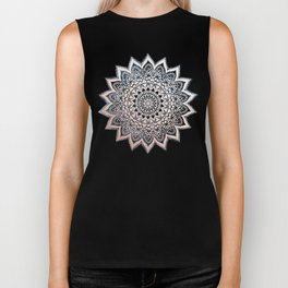 BLUE BOHO NIGHTS MANDALA Biker Tank