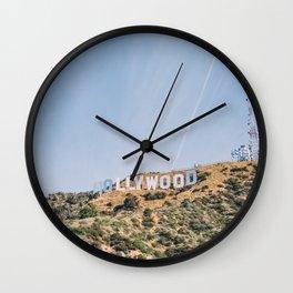 Hollywood Sign Los Angeles Wall Clock