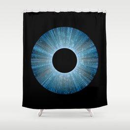 Blue Iris Abstract Universe Art Shower Curtain