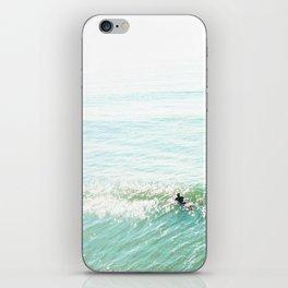 Lone Surfer in the Californian Sun iPhone Skin
