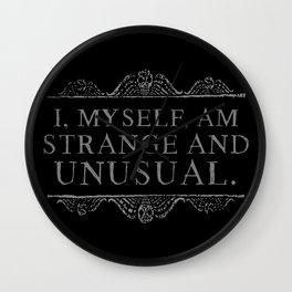 """I, myself, am strange and unusual."" -Lydia Deetz Wall Clock"