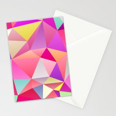 Pink Polygons Stationery Cards