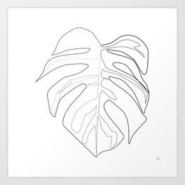 """Botanical Collection"" -  Monstera Print Art Print"