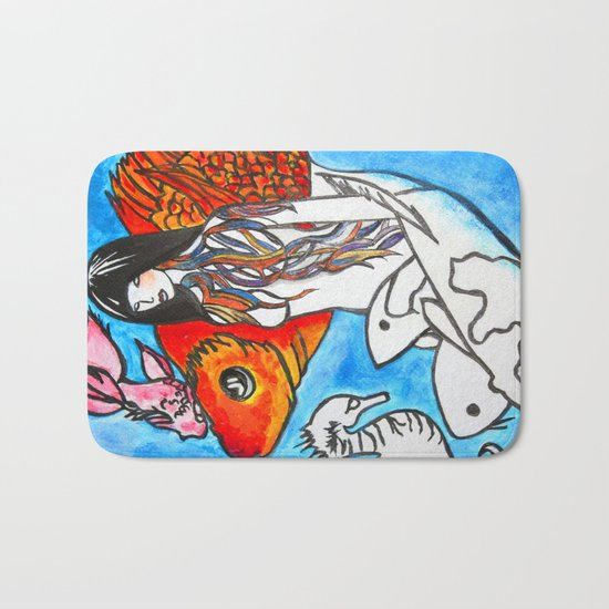 The Sea King's Daughter Bath Mat