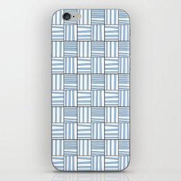 symetric tartan and gingham 7 -vichy, gingham,strip,square,geometric, sober,tartan iPhone Skin