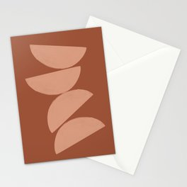 Modern Abstract Art, Terracotta Stationery Cards