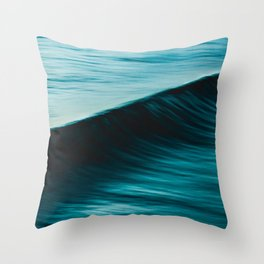 Slow Shutter On Wave Throw Pillow