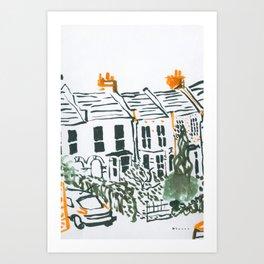 Across the road #3 Art Print