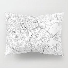 Nashville White Map Pillow Sham