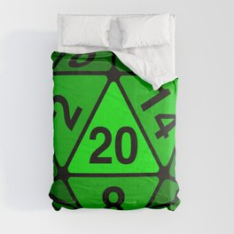 Critical Roll Green Comforters