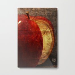 Mysterious relationship of apple and time Metal Print
