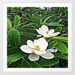 White Flowers of the Purest Essence Art Print