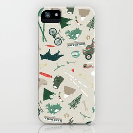 Outdoorsy and crafty iPhone Case
