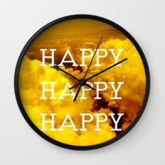 Happy Happy Happy II Wall Clock