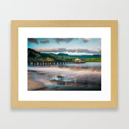 Hanalei Pier Kauai Hawaii  Framed Art Print