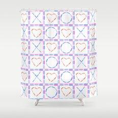 Hearts XOX Shower Curtain