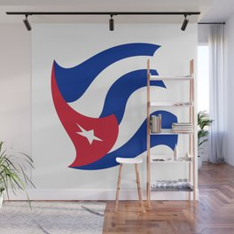 Flag of Cuba 3 -cuban,havana, guevara,che,castro,tropical,central america,spanish,latine Wall Mural
