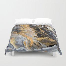 Gold Vein Marble Duvet Cover