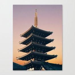 Five-Storied Pagoda at Sensoji Fine Art Print Canvas Print