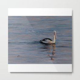 Sunrise Pelican Metal Print