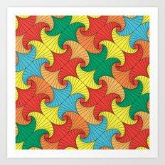 Dancing squares Art Print