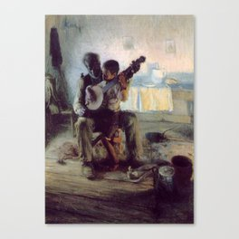 The Banjo Lesson by Henry Ossawa Tanner Canvas Print