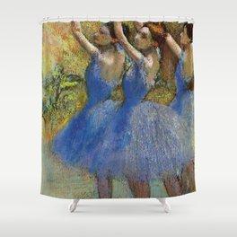 "Edgar Degas ""Dancers in violet dresses, arms raised"" Shower Curtain"