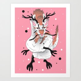 Cervine Serpent Art Print