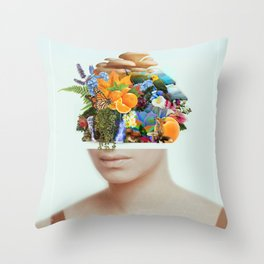 Natural Streissand Throw Pillow