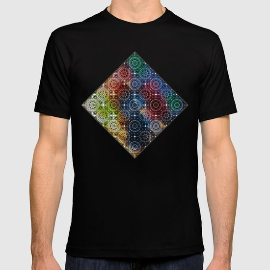 Tiled mandalas in vivid colors T-shirt
