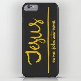 Jesus - nome sobre todo nome iPhone Case