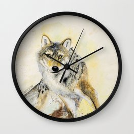 Totem Wolf: Gray wolf (c) 2017 Wall Clock