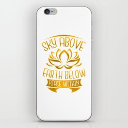 Yoga Meditation Gifts for Zen Mindfulness iPhone Skin