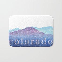 Colorado Mountain Ranges_Pikes Peak + Continental Divide Bath Mat