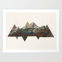 This mountain light Art Print