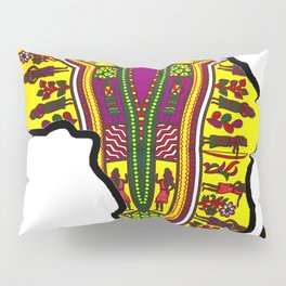Purple Dashiki Africa Map Pillow Sham