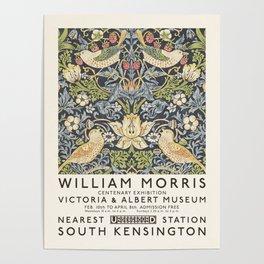 Strawberry Thief William Morris Art Exhibition Poster